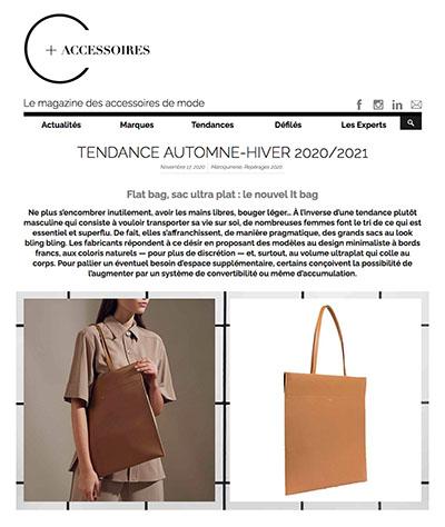 Flat bag, sac ultra plat : le nouvel It bag